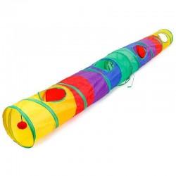 Tunnel coloré pour animaux domestiques - tube pliable