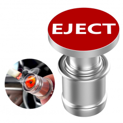 12V EJECT & FIRE MISSILE - bouton poussoir allume-cigare