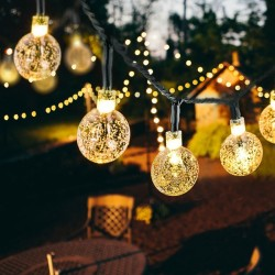 Solar LED crystal balls - waterproof christmas lights