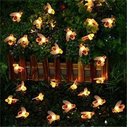 LED światło z pszczołami - lampki choinkowe zasilane energią słoneczną
