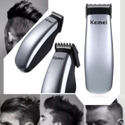 Kemei - mini cortadora de cabello con batería eléctrica - recortadora de barba