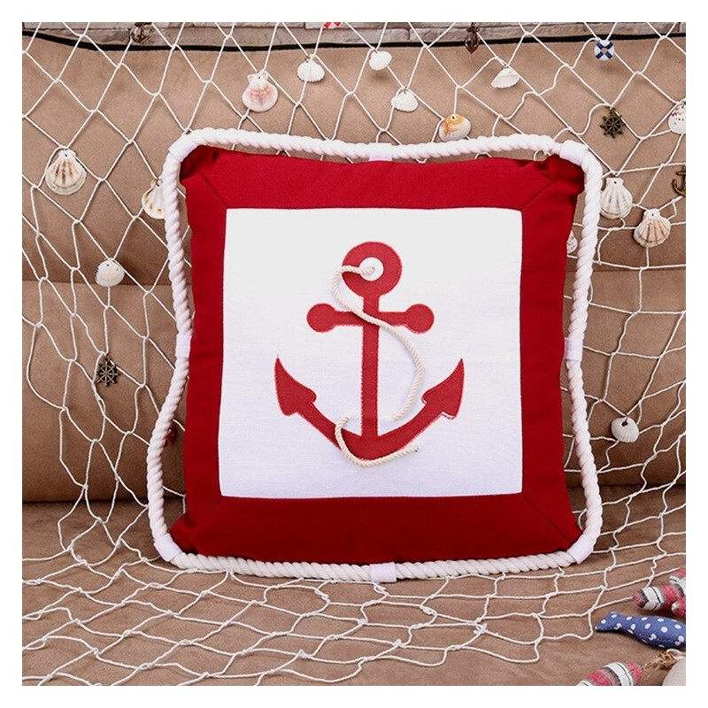 Anchor & compass - pillowcase - cushion cover 40cm * 40cm