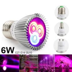 6W - E27 E14 GU10 - Lampe de culture à LED - hydroponique