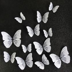 Motyl 3D - naklejka ścienna z magnesem 12 sztuk