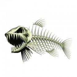 Squelette de poisson 3D - autocollant 13 * 85cm pour auto et moto