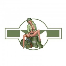 US army girl - Auto & Motorrad Vinyl Aufkleber - wasserdicht 13 * 7,4 cm