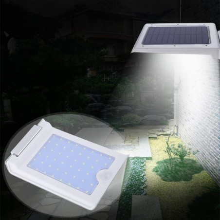 LED solar energie light with motion sensor - 46 leds - ultra thin - ip65