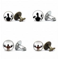 Captured glass ghost - cufflinks