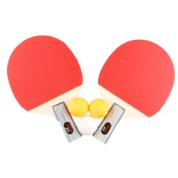 Set de tennis de table 2 raquettes + 3 balles de ping pong