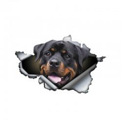 3D Rottweiler - Vinyl-Autoaufkleber - 13 * 8,4 cm