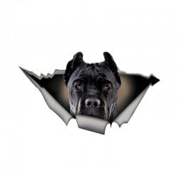 Czarny pies - winylowa naklejka na samochód - wodoodporna 13 * 7.6 cm