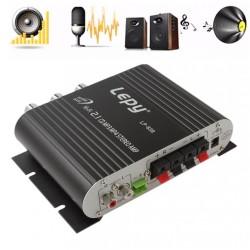 Autoverstärker - Hi-Fi 2.1 Stereo - Super Bass - Subwoofer Option - AUX in