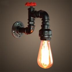 Pipa industriale americana - lampada da parete in ferro
