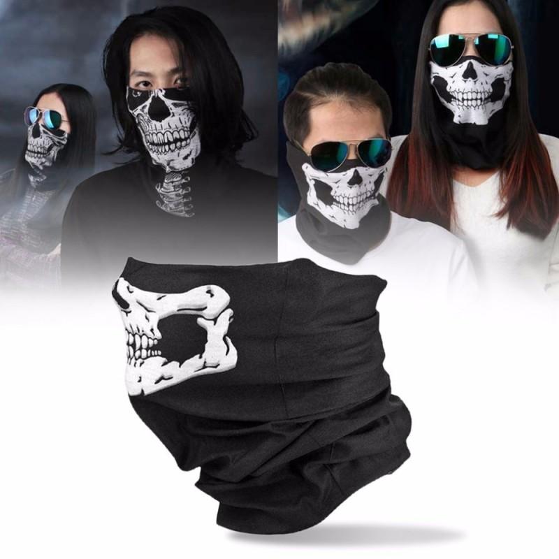Maschera teschio stampata - passamontagna
