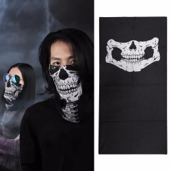Maska z nadrukiem czaszki - kominiarka
