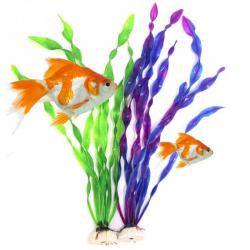 Sztuczna plastikowa roślina trawiasta - dekoracja akwarium