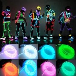 Flexibles Neon-LED-Lichtkabel 3 m - batteriebetrieben