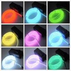 Cavo flessibile a LED al neon 3m - alimentato a batteria