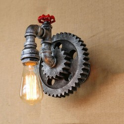 Vintage żelazna rura - kinkiet