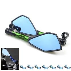 Motocyklowe aluminiowe lusterka wsteczne z niebieskim szkłem do Kawasaki Z900 Z900RS Z800 Z1000
