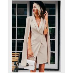 Vintage marynarka płaszczowa - sukienka bez rękawów