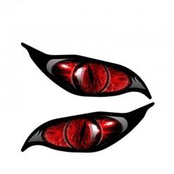 Yeux de zombie rouge - autocollant voiture vinyle 13 * 5 cm 2 pièces