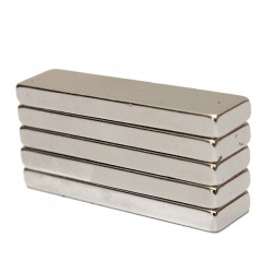 N35 Neodymium sterk magneetblok 40 * 10 * 4 mm 5 stuks