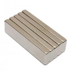 Bloc d'aimant puissant N35 en néodyme 40 * 10 * 4 mm 5 pièces