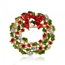 Corona de muérdago de Navidad - broche