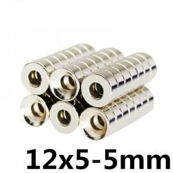Magnes neodymowy N35 - super mocny okrągły pierścień 12 * 5 * 5mm 5 sztuk
