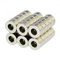 Magnes neodymowy N35 - mini super mocny pierścień 10 * 5 * 5 mm 10 sztuk