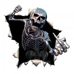 Wściekły szkielet - winylowa naklejka na samochód 15 * 15 cm