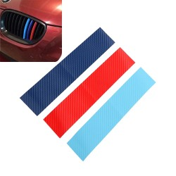 3D Carbonfaser für BMW Grill - Streifenaufkleber 25 * 5 cm