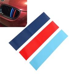 Włókno węglowe 3D do grilla BMW - naklejka w paski 25 * 5 cm