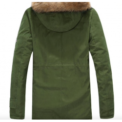 Winter hooded jacket - warm - slim