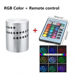 Kinkiet LED z otworem spiralnym - RGB - pilot zdalnego sterowania