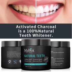 Activated charcoal - natural teeth whitening powder