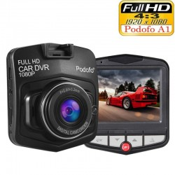 Original Podofo A1 mini car DVR camera dashcam - full HD 1080P - video registrator recorder - G-sensor - night vision