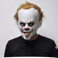 Halloween clown latex full face mask