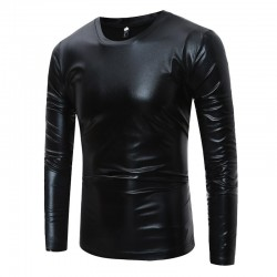 Shiny metallic t-shirt - long sleeve