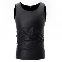 Błyszcząca metaliczna koszulka - kamizelka bez rękawów