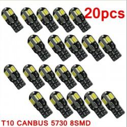 Lampadina T10 12V Canbus LED per interni auto - 20 pezzi