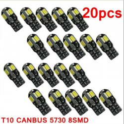 T10 12V Canbus LED auto-interieur lamp - 20 stuks