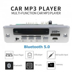520/5000 Modulo autoradio Bluetooth - 1 Din 12V - USB 3.5mm - Lettore MP3 - USB