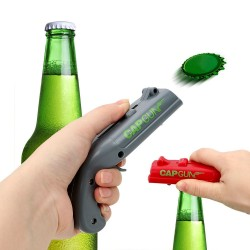 Otwieracz do butelek w kształcie pistoletu - sprężynowa katapulta
