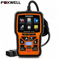 Foxwell NT301 OBD OBD2 scanner - lecteur de code d'erreur - diagnostic de la voiture - multilingue - universel