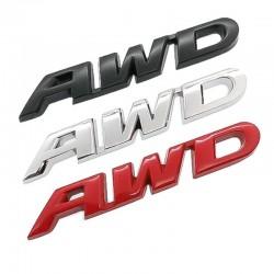 3D AWD - autosticker - chroom