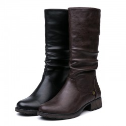 Winter - warm mid-calf boots