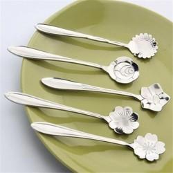 Cucharita decorativa de plata - café y postres 5 piezas