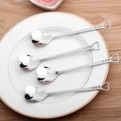 Łyżeczki ze stali nierdzewnej w kształcie serca do herbaty & kawy & deserów 10 sztuk